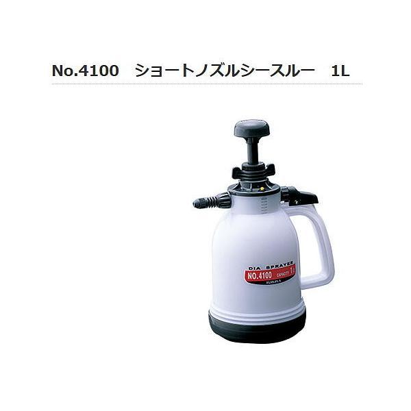 フルプラ  4100 6個単位 プレッシャー式噴霧器 ハンディタイプ 1L ショートノズルシースルー 使いやすくて、充分な圧力でよい霧。