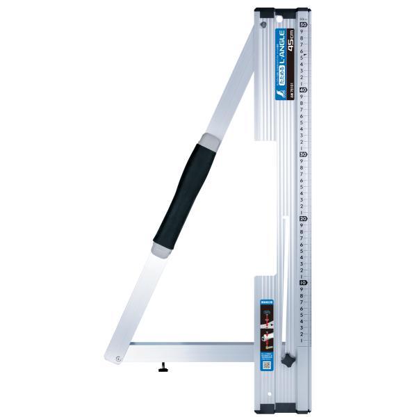シンワ測定丸ノコガイド定規たためるエルアングル45cmメートル目盛78101