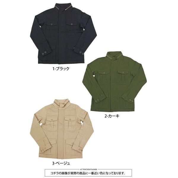 ミリタリージャケット メンズ m65 カーキ ブラック ブルゾン M-65 ジャケット コットンツイル ストレッチ素材 無地 フライトジャケット アウター|topism|12