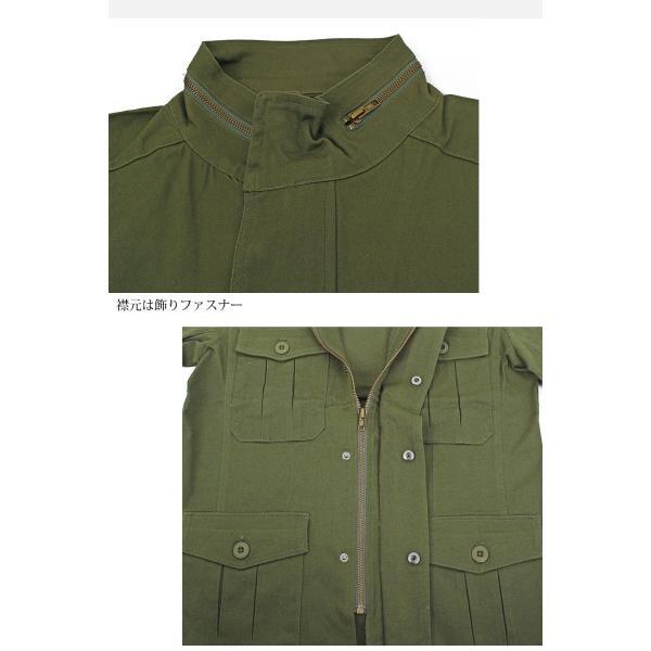 ミリタリージャケット メンズ m65 カーキ ブラック ブルゾン M-65 ジャケット コットンツイル ストレッチ素材 無地 フライトジャケット アウター|topism|09