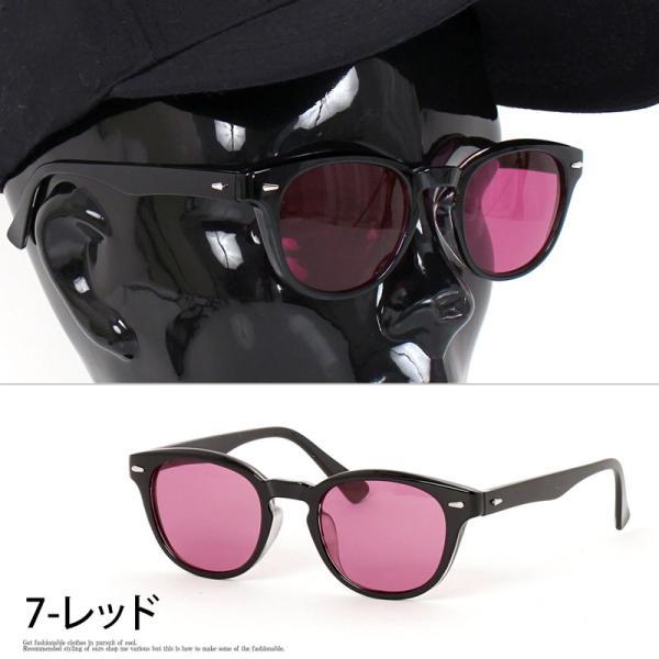 サングラス メンズ カラーレンズ 伊達メガネ 眼鏡 メガネ 伊達めがね 黒ぶち眼鏡 UVカット ウェリントン スモーク ライトカラー おしゃれ 人気 ブルー ブラック|topism|12