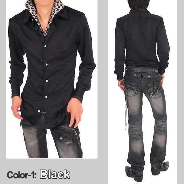 シャツ メンズ サテンシャツ ボタンダウン デュエボットー二 白シャツ ドレスシャツ トップス|topism|04