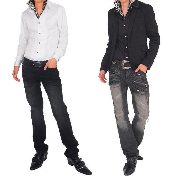 シャツ メンズ サテンシャツ ボタンダウン デュエボットー二 白シャツ ドレスシャツ トップス|topism|06