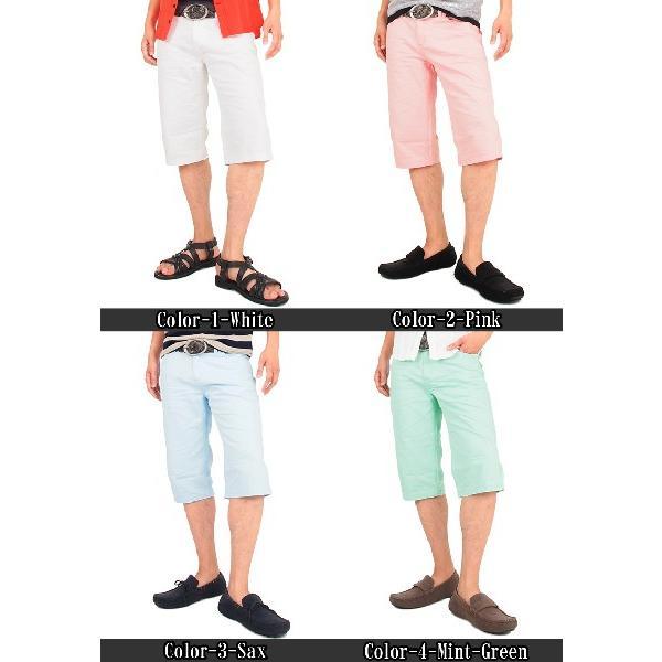 ハーフパンツ メンズ ショートパンツ 短パン ショーツ メンズハーフパンツ ホワイト 白|topism|02