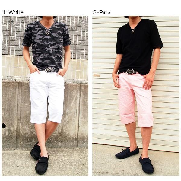 ハーフパンツ メンズ ショートパンツ 短パン ショーツ メンズハーフパンツ ホワイト 白|topism|05