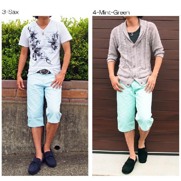 ハーフパンツ メンズ ショートパンツ 短パン ショーツ メンズハーフパンツ ホワイト 白|topism|06