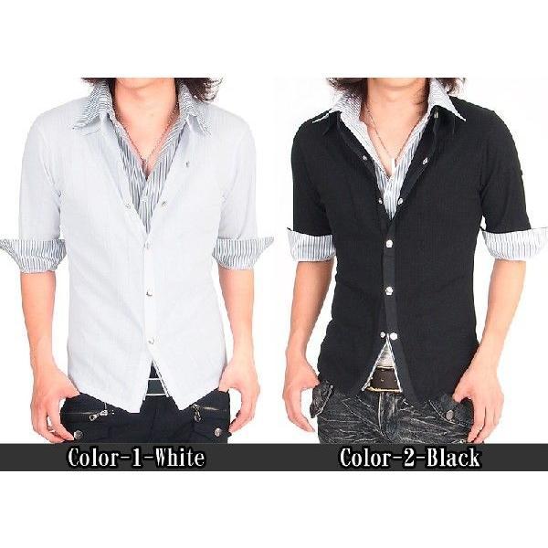 カーディガン カットソー メンズ ストライプシャツ メンズシャツ メンズファッション 通販|topism|02