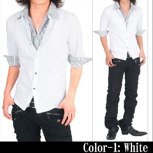 カーディガン カットソー メンズ ストライプシャツ メンズシャツ メンズファッション 通販|topism|05
