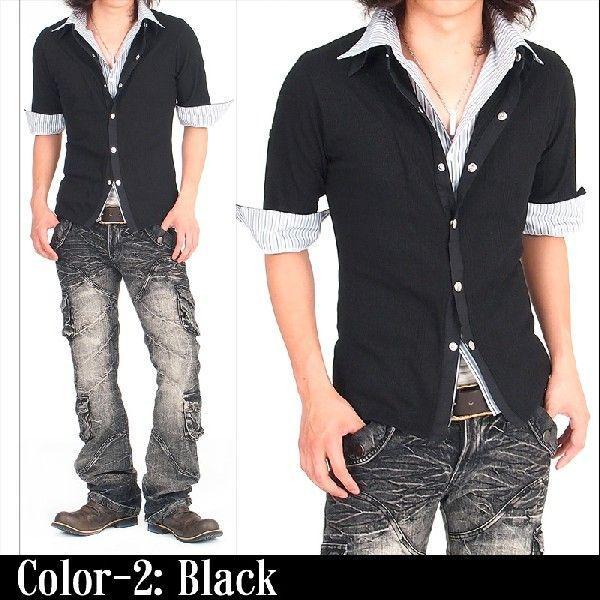 カーディガン カットソー メンズ ストライプシャツ メンズシャツ メンズファッション 通販|topism|06