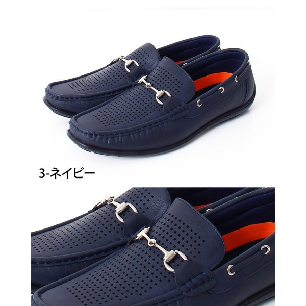 ドライビングシューズ メンズ カジュアルシューズ ローファー ローカット モカシン 短靴 靴 オペラシューズ メッシュ ビット 春 夏 メンズファッション|topism|09