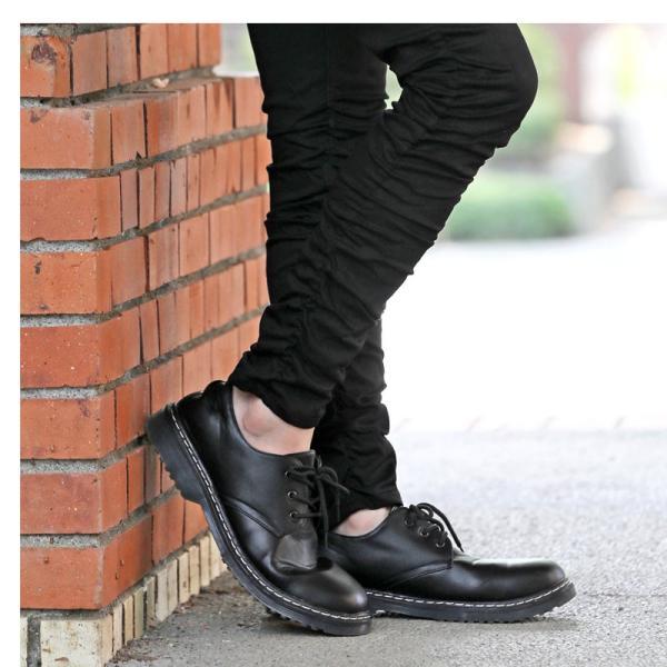 メンズカジュアルシューズ クリアソール 3ホール レースアップ 短靴 ローカット オックスフォード ドレスシューズ 靴 ローファー ブーツ|topism|07
