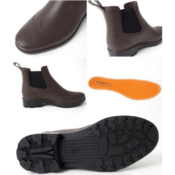 ビジネスシューズ メンズ レインシューズ レインブーツ 完全防水 雨 サイドゴアブーツ ウイングチップ スノーブーツ スノーシューズ 長靴|topism|06