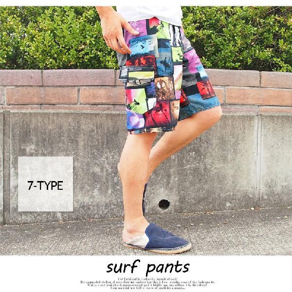 水着 メンズ サーフパンツ 海パン 海水パンツ インクジェットプリント 水陸両用|topism|06