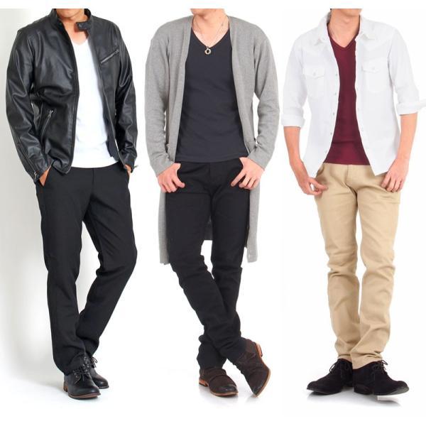Tシャツ メンズ 半袖 7分袖 無地 カットソー Vネック トップス インナー ストレッチ フライス 七分袖 メンズファッション 脇汗対策シャツ|topism|17