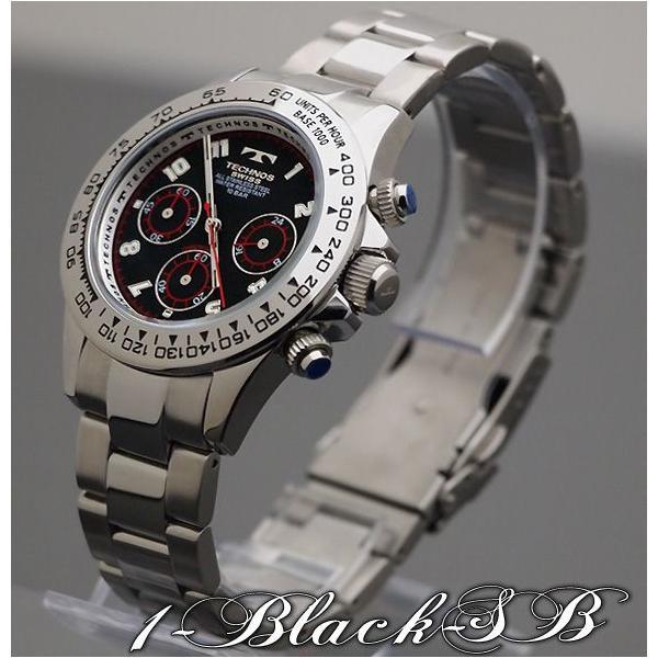 腕時計 メンズ TECHNOS クロノグラフ 10気圧防水 新作 2012|topism|04