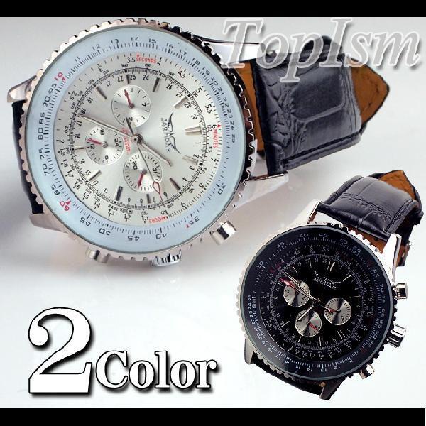 腕時計 メンズ クロノグラフ オートマチック 自動巻き腕時計|topism|02