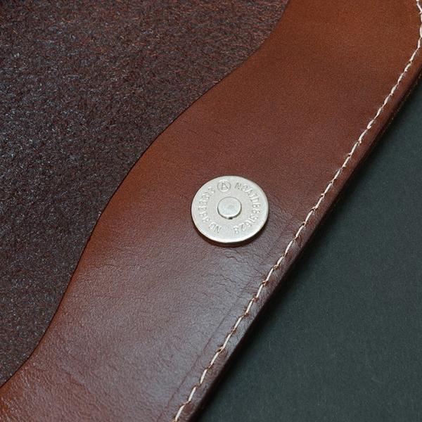 THEODORE セオドール イタリアンレザー 本革トップチューブバッグ (Brown)|topmart-s|09