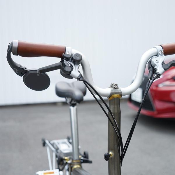 Hafny ハフニー 自転車 バーエンドミラー  ブルーミラー チタンボルト仕様|topmart-s|03