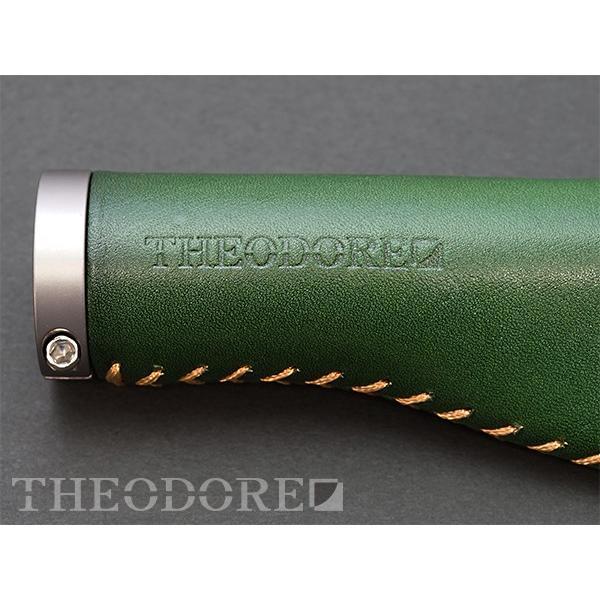 THEODORE セオドール イタリアンレザー 本革グリップ 138mm Green topmart-s 02