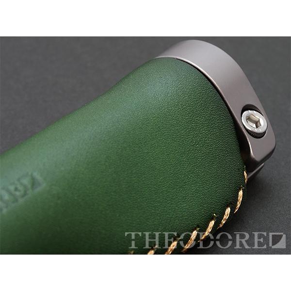 THEODORE セオドール イタリアンレザー 本革グリップ 138mm Green topmart-s 03