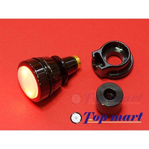 クイックリリース取付ライト gearoopテールライト BLK/RED 電池式 小型軽量簡単取付け 電池付属 topmart-s 02