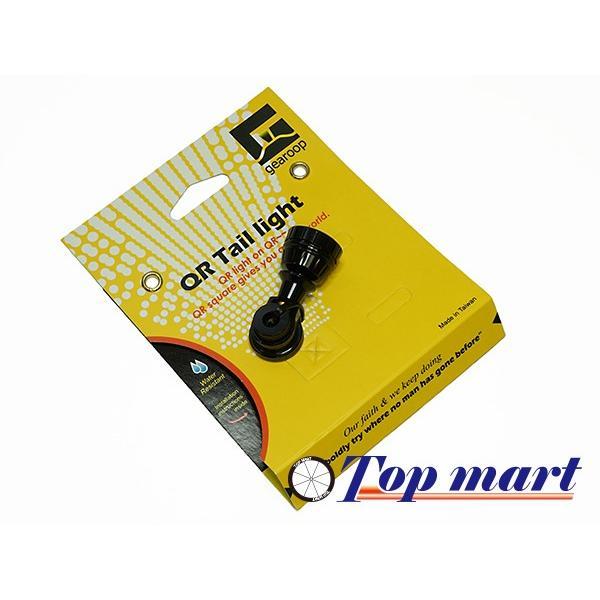 クイックリリース取付ライト gearoopテールライト BLK/RED 電池式 小型軽量簡単取付け 電池付属 topmart-s 04