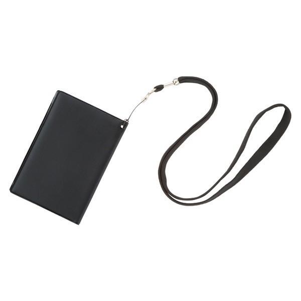 ゴーウェル スキミング防止パスポートカバー イージス ネックストラップ付 ブラック GW-1006-502