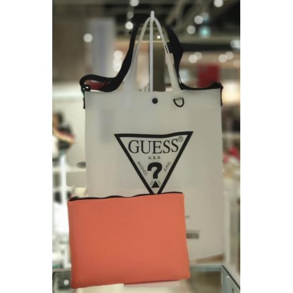 TRIANGLE LOGO CLEAR TOTE BAG [2色]【海外取寄せ/並行輸入品】GUESS/ゲス