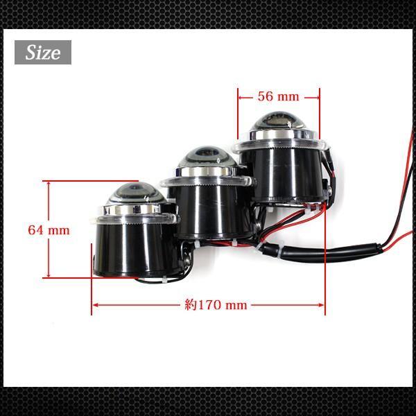 レクサス LS600風 LSハイブリッド風 LED 3連プロジェクター イカリング ヘッドライト 左右セット 6000k 18W 外装 カスタムパーツ LS600hレプリカ|topsense|06