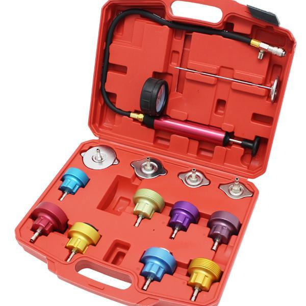 ラジエター プレッシャーテスター リークテスター キャップテスター 冷却 水漏れ メンテナンス 特殊工具 ツール セット メーター ケース 外車 国産車 対応