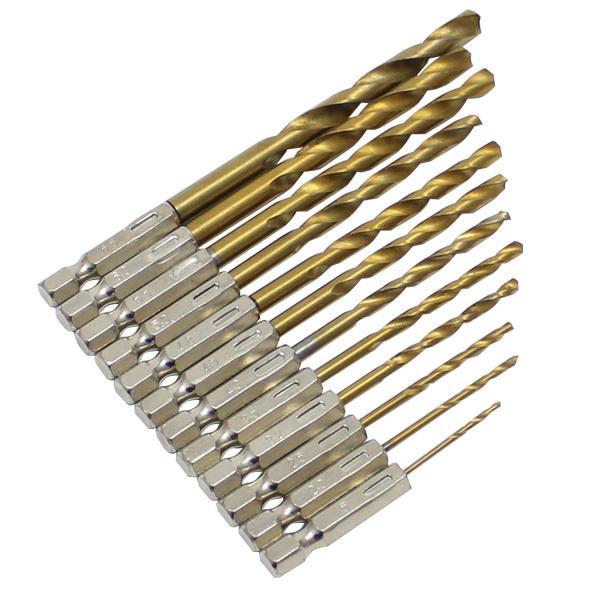 ドリルビットセットHSS六角軸ドリルセットキリドリル刃電動ドリルインパクトドライバー対応木材鉄アルミ穴あけドリル部品DIY工具