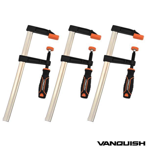 ヴァンキッシュFクランプ3本セット300mmF型クランプWORK&DIY工具固定クランプ週末木工日曜大工オリジナル家具イ