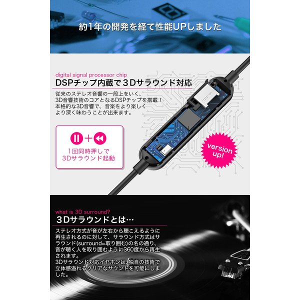 ワイヤレスイヤホン bluetooth イヤホン カナル型 イヤホン ワイヤレス イヤホンマイク iPhone plus X 10 8 7 iPhone スマホ アンドロイド 高音質 「meru2」|toptrend|05