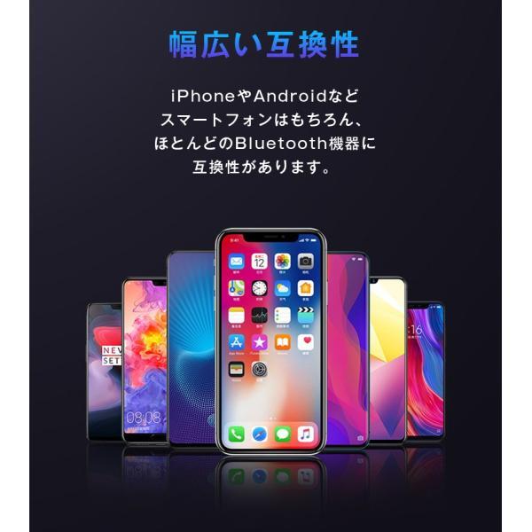 イヤホン ワイヤレスイヤホン ワイヤレス bluetooth カナル型 重低音 イヤホンマイク iPhone8 plus iPhone X 10 7 両耳 スマホ ブルートゥース 防水 「meru1」|toptrend|09