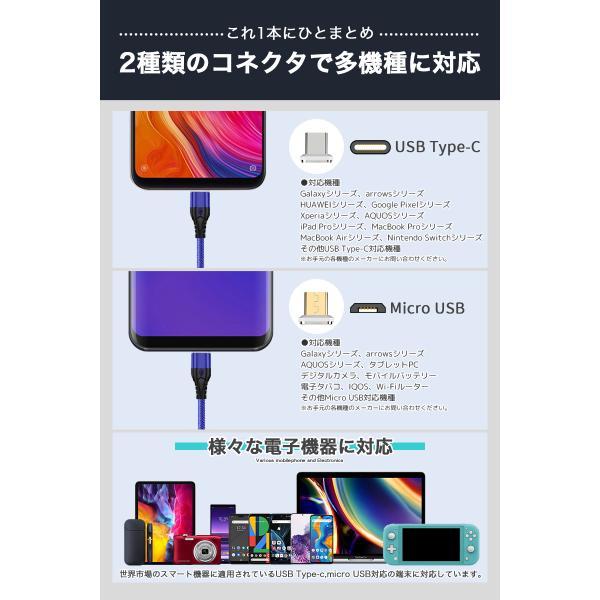 充電ケーブル アンドロイド 1m マグネット式 スマホケーブル マイクロusb microusb DOCOMO au softbank USBケーブル 充電器 スマートフォン 「meru1」|toptrend|04