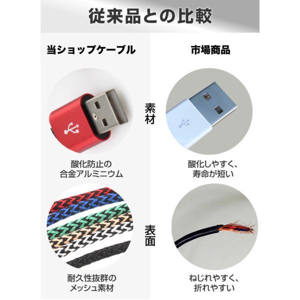 usb マイクロ type-c ケーブル 2m スマホ 頑丈 アンドロイド android 充電 usbケーブル タイプ c macbook Nexus ギャラクシー ファーウェイ 「meru1」|toptrend|07