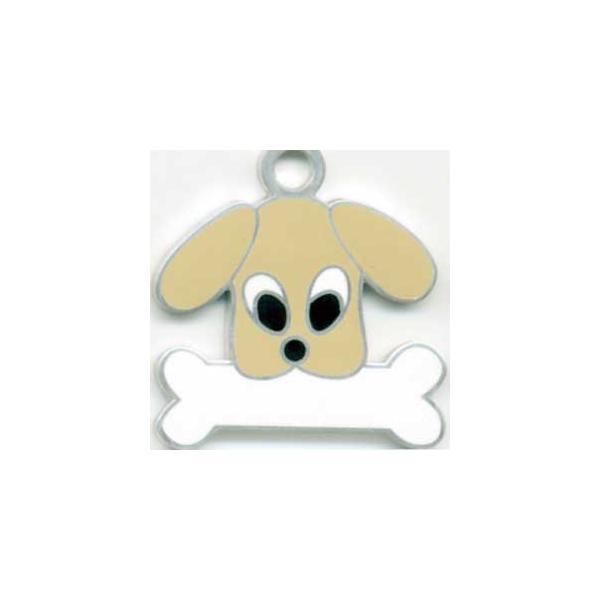 トイプードル(ベージュ) 犬 迷子札 【名入れ】  犬鑑札 トップワン IDプレート メール便  ドッグタグ  アクセサリー |topwan