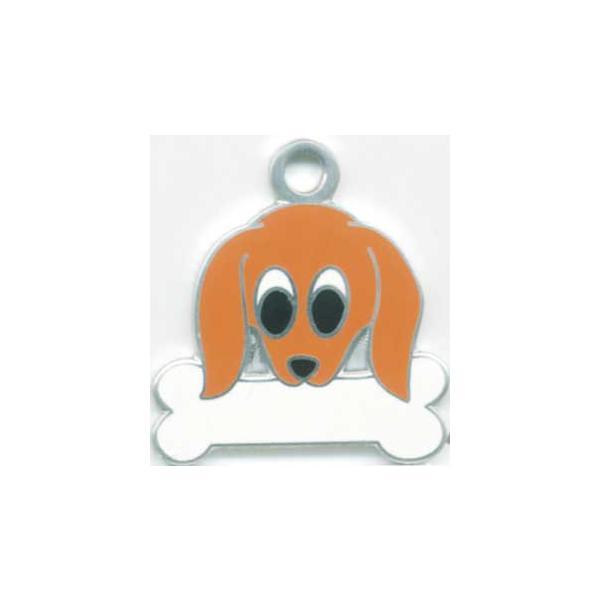 ミニチュアダックス(茶) 犬 迷子札   ドッグタグ  トップワン 【名入れ】  犬鑑札 IDプレートアクセサリー  携帯ストラップ|topwan