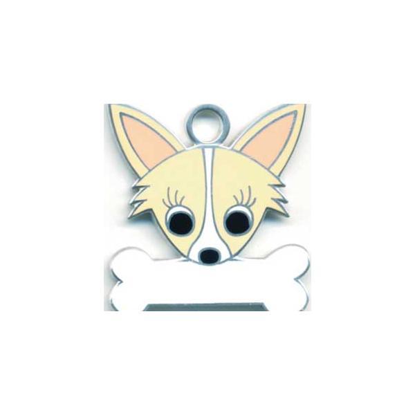 チワワ(F) 犬 迷子札  ドッグタグ 【名入れ】 トップワン  犬鑑札 IDプレート メール便 アクセサリー  携帯ストラップ|topwan