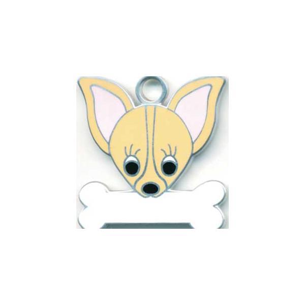チワワ(H) 犬 迷子札  ドッグタグ 【名入れ】 トップワン  犬鑑札 IDプレート メール便 アクセサリー  携帯ストラップ|topwan