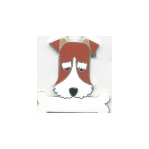 ワイヤーフォックステリア  犬 迷子札  ドッグタグ 【名入れ】 トップワン  犬鑑札 IDプレート メール便 アクセサリー  携帯ストラップ|topwan
