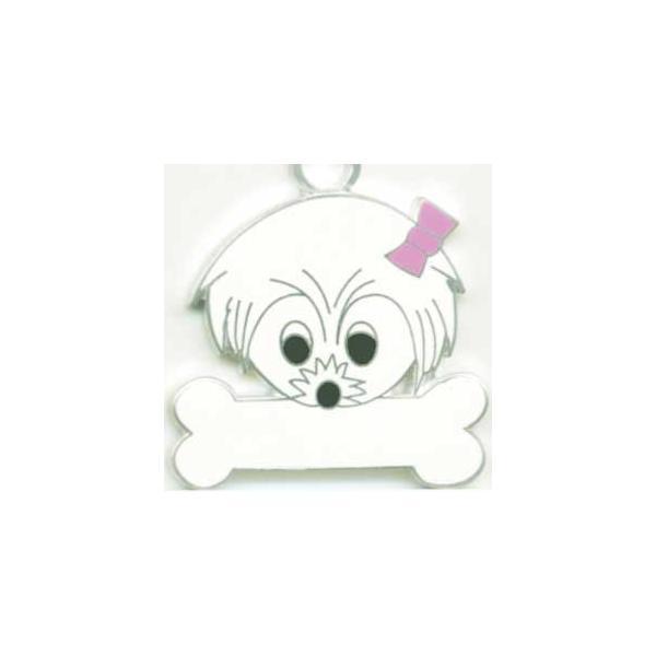 マルチーズ 犬 迷子札  ドッグタグ 【名入れ】 トップワン  犬鑑札 IDプレート メール便 アクセサリー  携帯ストラップ topwan