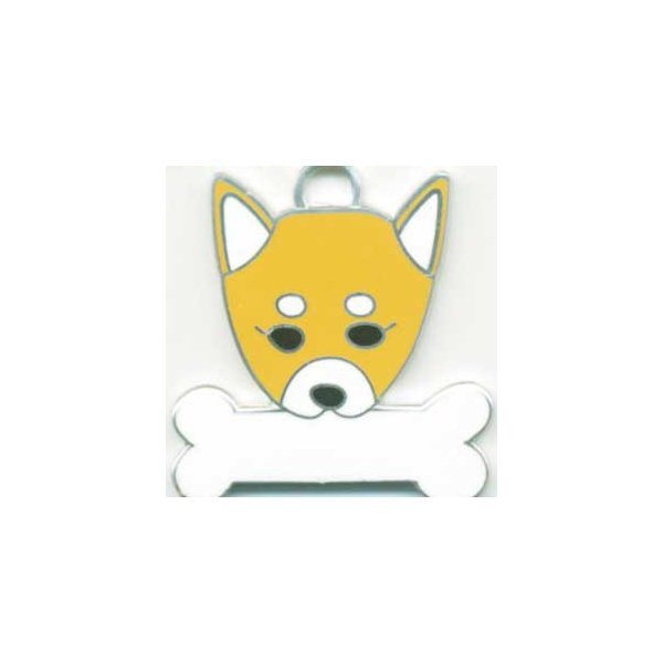 柴犬  犬 迷子札  ドッグタグ 【名入れ】 トップワン ペット 犬鑑札 IDプレート メール便 アクセサリー  携帯ストラップ|topwan
