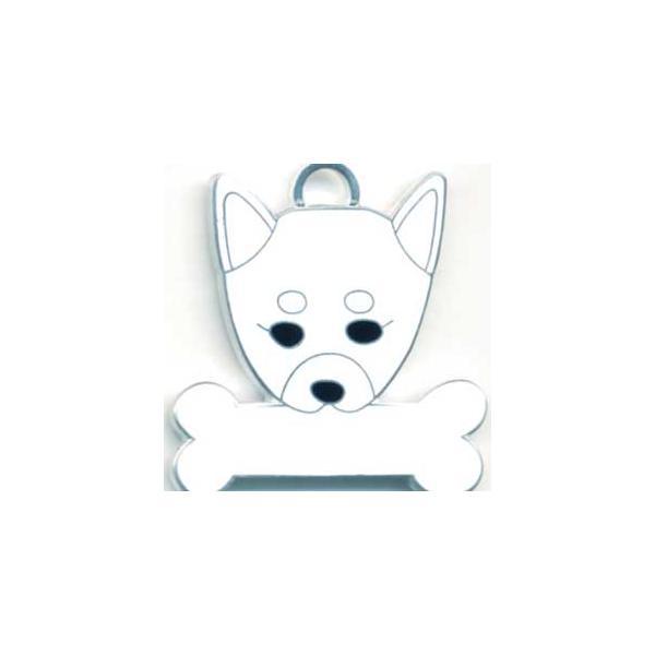 柴犬(白) 犬 迷子札  ドッグタグ 【名入れ】 トップワン ペット 犬鑑札 IDプレート メール便 アクセサリー  携帯ストラップ|topwan