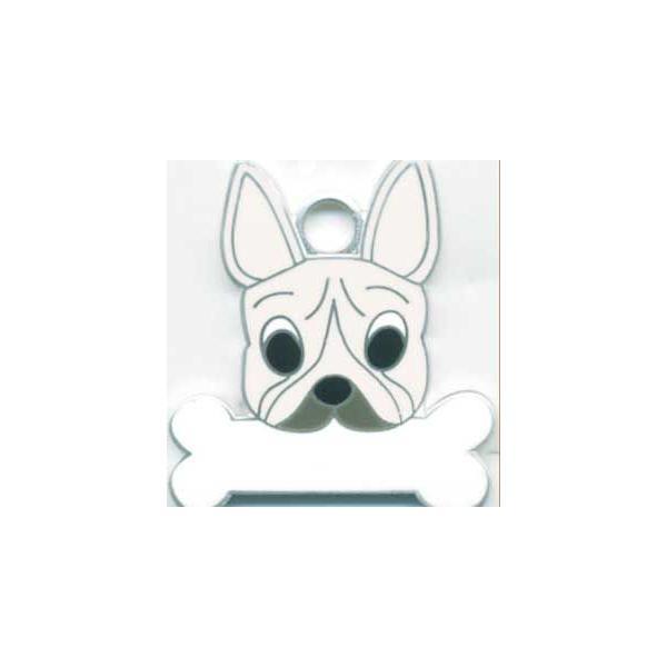フレンチブルドッグ(クリーム)  犬 迷子札  ドッグタグ 【名入れ】 トップワン ペット 犬鑑札 IDプレート メール便 アクセサリー  携帯ストラップ|topwan