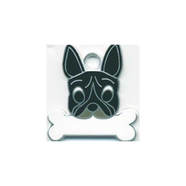 フレンチブルドッグ(黒)  犬 迷子札  ドッグタグ 【名入れ】 トップワン ペット 犬鑑札 IDプレート メール便 アクセサリー  携帯ストラップ|topwan
