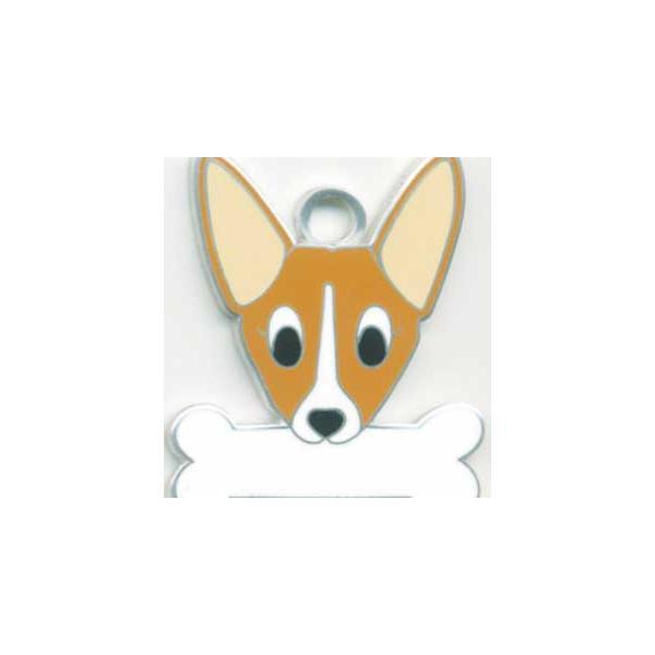 コーギー  犬 迷子札  ドッグタグ 【名入れ】 トップワン ペット 犬鑑札 IDプレート メール便 アクセサリー  携帯ストラップ|topwan