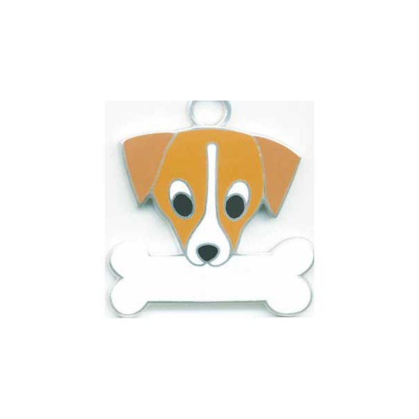 ジャックラッセルテリア  犬 迷子札  ドッグタグ 【名入れ】 トップワン ペット 犬鑑札 IDプレート メール便 アクセサリー  携帯ストラップ|topwan