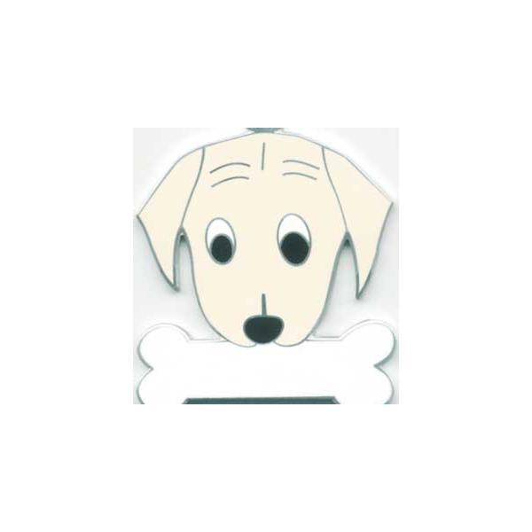 ラブラドール(クリーム) 犬 迷子札  ドッグタグ 【名入れ】 トップワン ペット 犬鑑札 IDプレート メール便 アクセサリー  携帯ストラップ|topwan