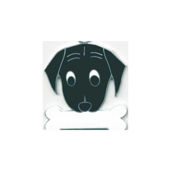 ラブラドール(黒) 犬 迷子札  クロラブ ドッグタグ 【名入れ】 トップワン ペット 犬鑑札 IDプレート アクセサリー  携帯ストラップ|topwan